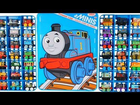 150+ THOMAS MINIS STORAGE CASE HUGE COLLECTION OF TRAINS TANK ENGINES SERIES 3 DC COMICS SUPERHERO