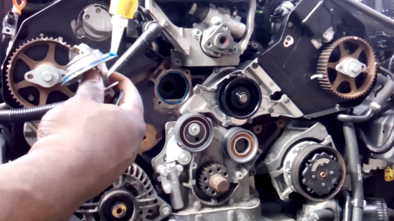 hight resolution of audi 2 4i thermostat removal and installation