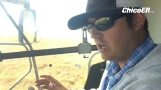 Nate Enos operates a combine during #Rice #Harvest at @gorrillranch in Nelson, CA #Farming #Agricult