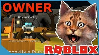 WE FOUND THE OWNER OF MINING SIMULATOR IN ROBLOX PUMPKIN CARVING SIMULATOR