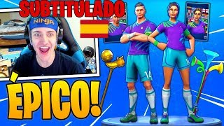 Ninja Reacts to *NEW* WORLD FOOTBALL SKINS RUSSIA 2018 + VUVUZELA - Fortnite