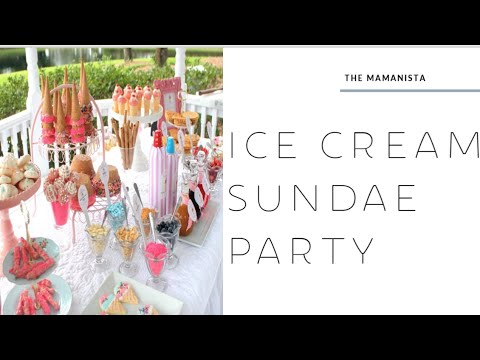 Ice Cream Sundae Party/ Dessert Table -simplyjo.com