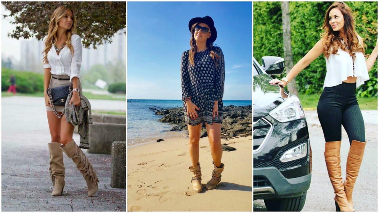 OUTFITS CON BOTAS DE MODA U2665 #Moda #Botas #Outfits - YouTube