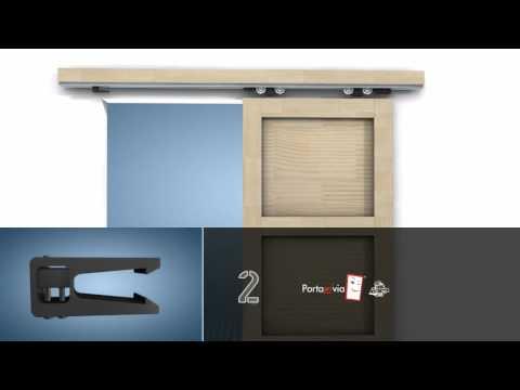 Porta scorrevole esterno muro fai da te interior sliding for Costruire porta tv