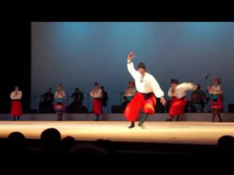Incredible Ukrainian dance Gopak with elements of Ukrainian folk music  Ballet Sukhishvili in Kiev