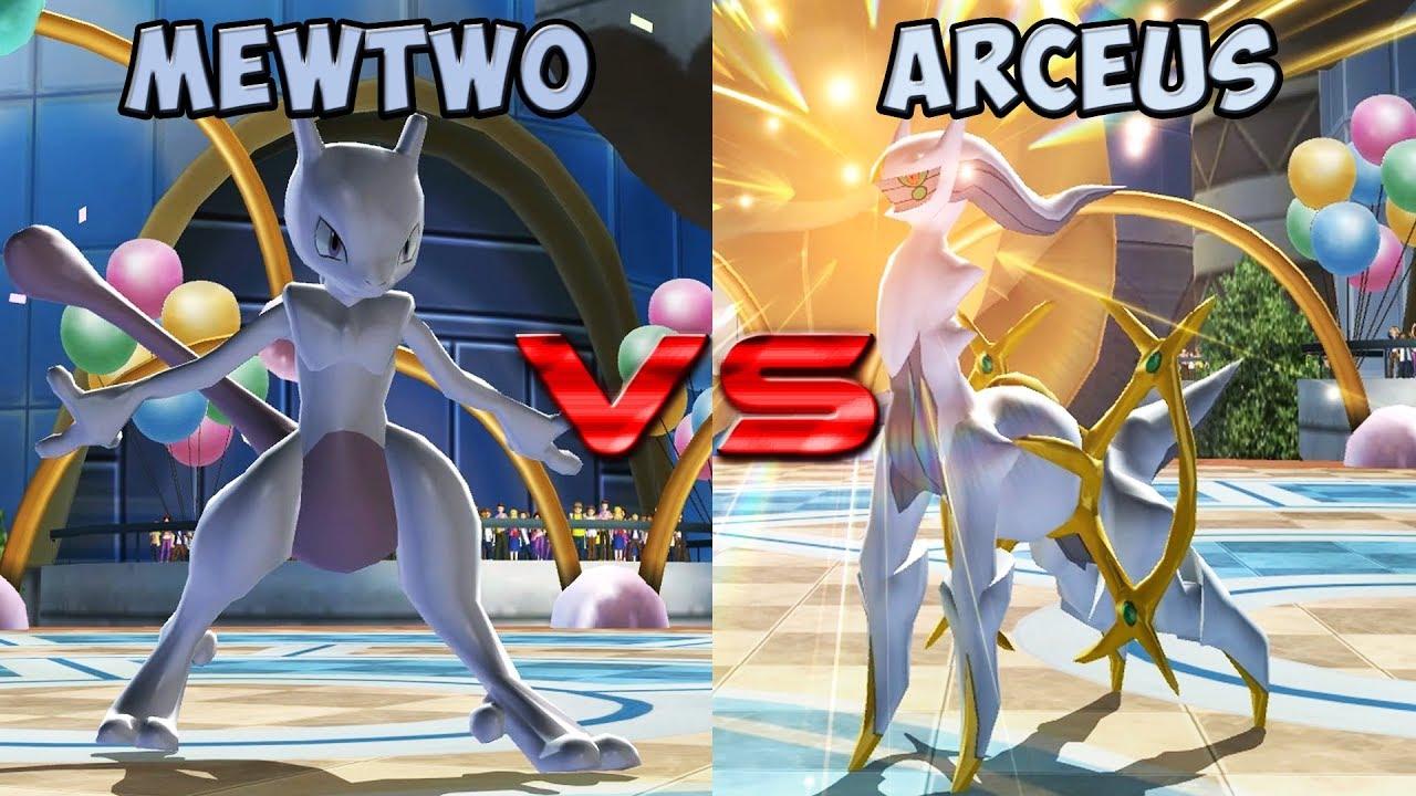 pokemon battle revolution mewtwo vs arceus youtube