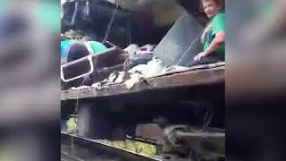 Пассажиров вытаскивают из искореженного вагона поезда Нижневартовск Адлер