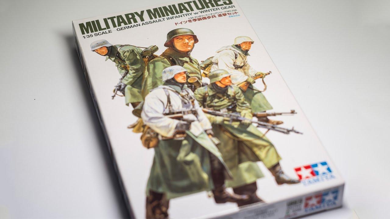 Tamiya 35256 1//35 German Assault Infantry w//Winter Gear