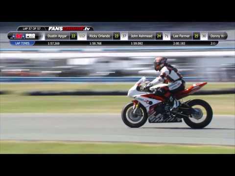 Danny Eslick Celebrates His Daytona 200 Win In Style