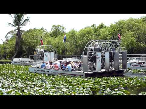Large Airboat in the Everglades Safari Park
