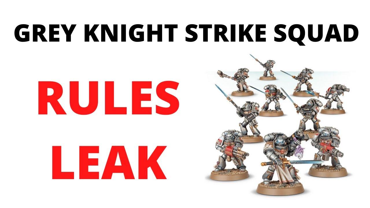 Grey Knights BUFFED - Strike Squad Datasheet Leak from New Codex...