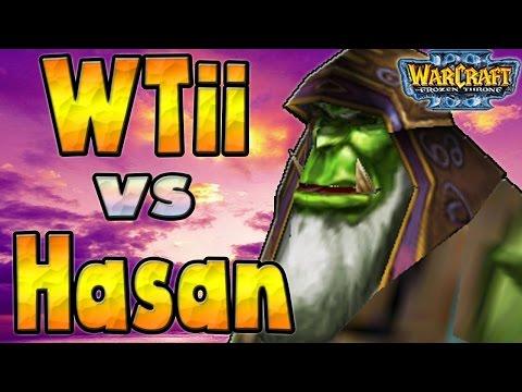 Warcraft 3 - WTii Vs Hasan #1 (1v1 #109)