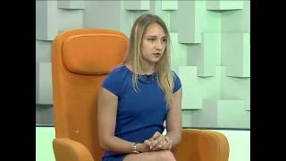 """Интервью гимнастки Виктории Комовой программе """"Марафон"""""""