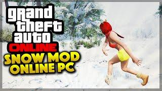GTA 5 PC Mods - SNOW MOD IN GTA 5 ONLINE! (GTA 5 Gameplay)