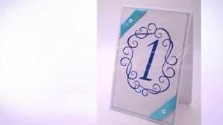 Карточки с номерами столов Gilliann