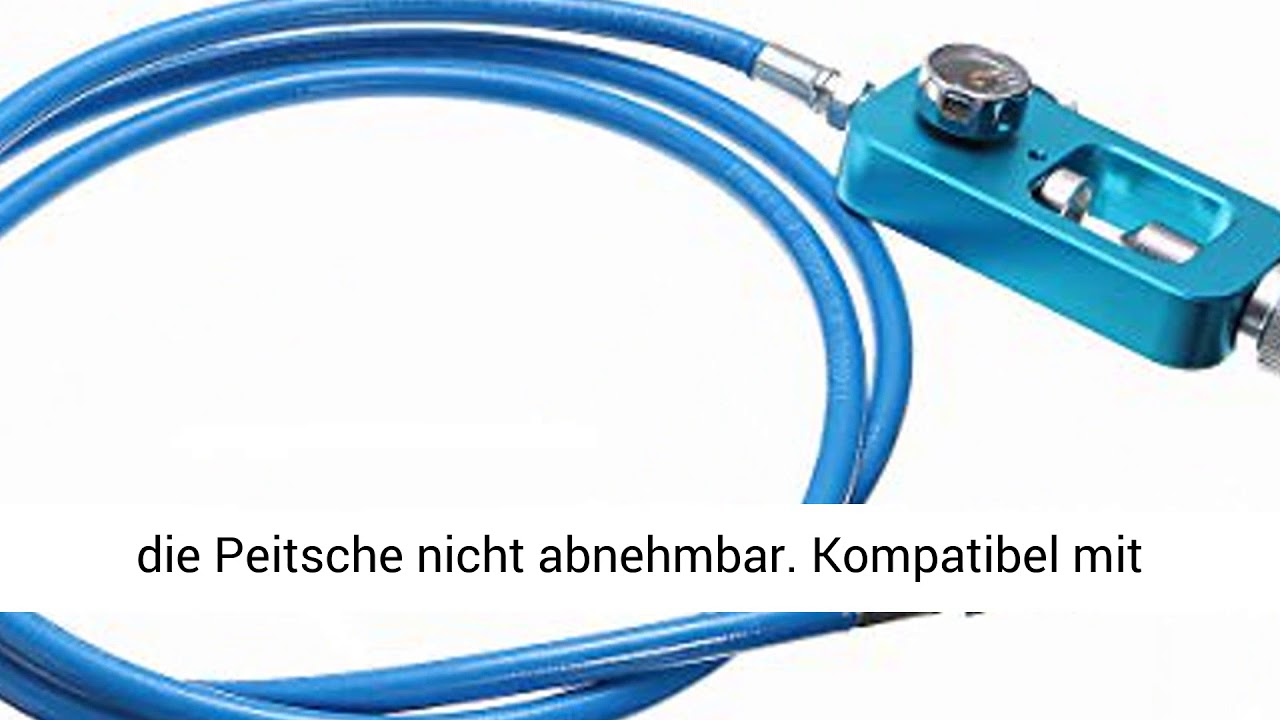 """72/"""" HPA Tank Fill Station High Pressure Adapter Scuba Hose Whip 182cm Stainless"""