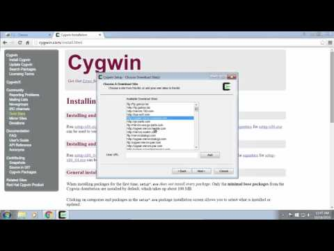 Setup Cygwin For C++ Programming - YouTube