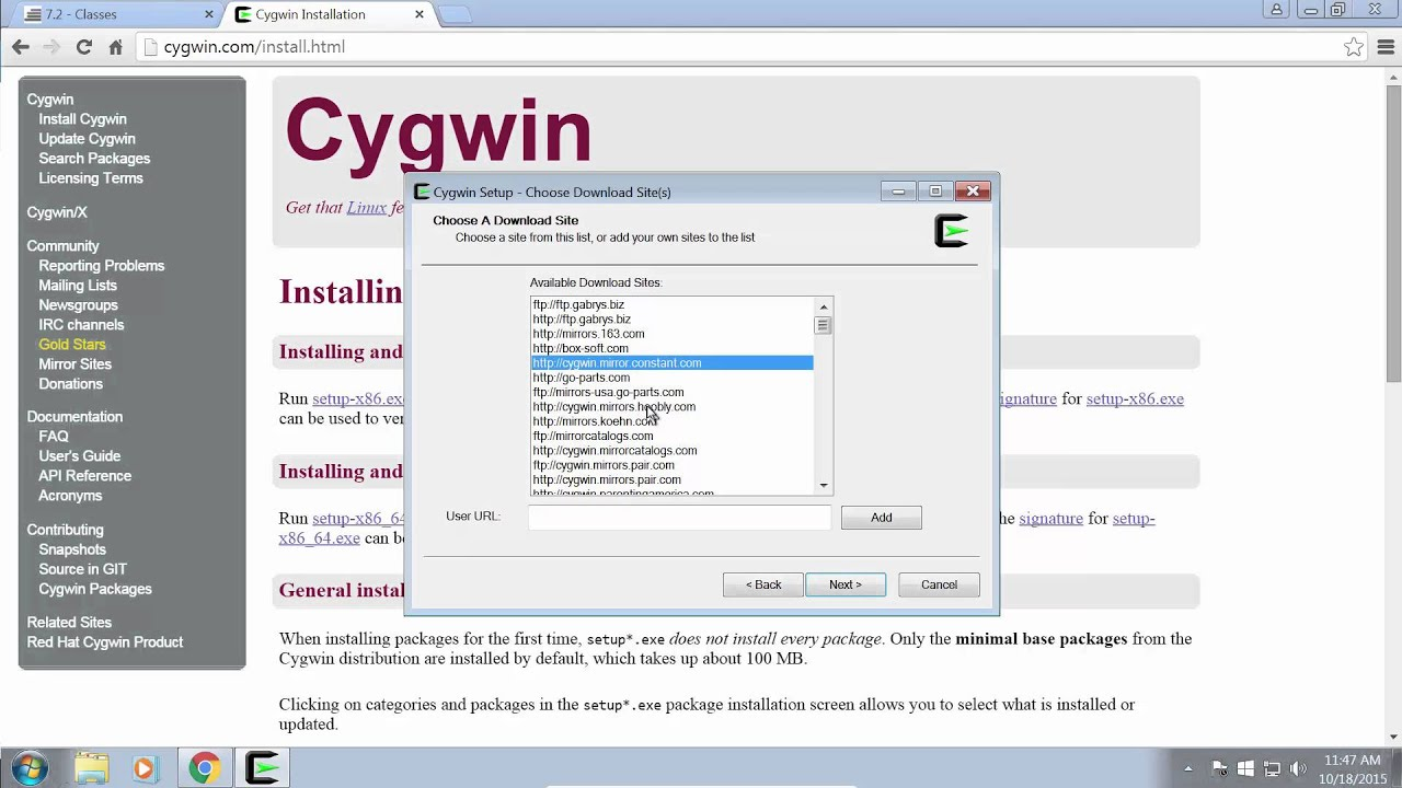 Setup Cygwin For C++ Programming