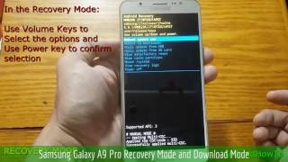 Samsung Galaxy A9 Pro Recovery Mode and Download Mode
