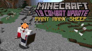 Minecraft   MANY MANY SHEEP   1.9 Combat Update Challenge [2]