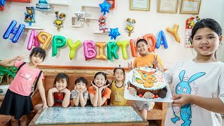 Kids Go To School | Day Birthday Of Younger Brother Chuns Close Friends Organize Birthday Cakes