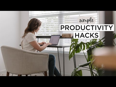 15 PRODUCTIVITY HACKS To Stop Wasting Time & Getting Work Done ✨
