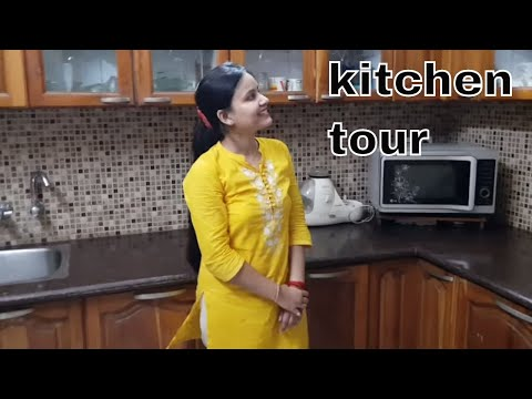 Indian organized kitchen tour 2017 in hindi / Indian small kitchen organization ideas / kitchen tour