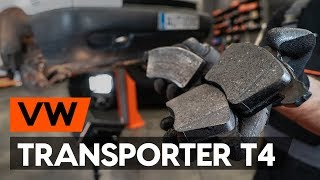 How to replace front brake pads / front brake pad set on VW TRANSPORTER 4 (T4) [TUTORIAL AUTODOC]