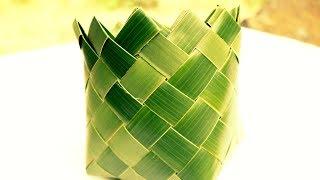 How It's Made - Coconut Leaf Square Basket