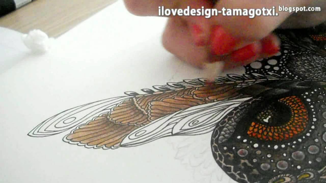 Owl Buho Speed Painting By Tamara Moreno Youtube