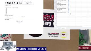 R and D Sports Cards MYSTERY FOOTBALL JERSEY BOX