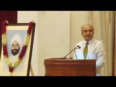 Mr. V.M Bansal, Chairman NDIM on 100th Birthday of Late Giani Zail Singh, the 7th President of India