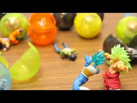 Dragon Ball Super Stop Motion Son Goku VS Broly Capsule Toy Gashapon VS Dragon Ball 05