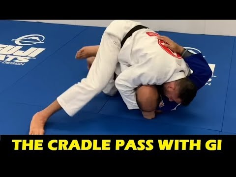 The Cradle Pass With Gi (BJJ Guard Passing) by Braulio Estima
