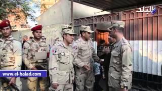 بالفيديو والصور..رئيس قطاع تأمين شبرا يتفقد لجان القناطر