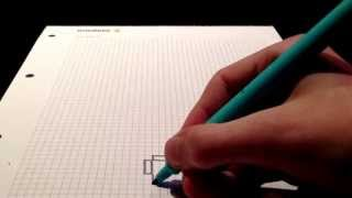 How to draw a minecraft diamond chestplate- part 1