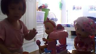 Kids and baby doll Ice cream shop kitchen play