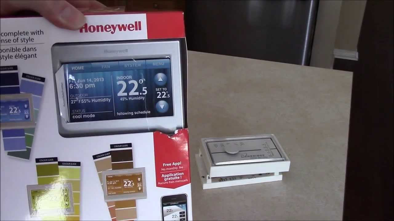 New Honeywell Wifi Smart Thermostat  YouTube