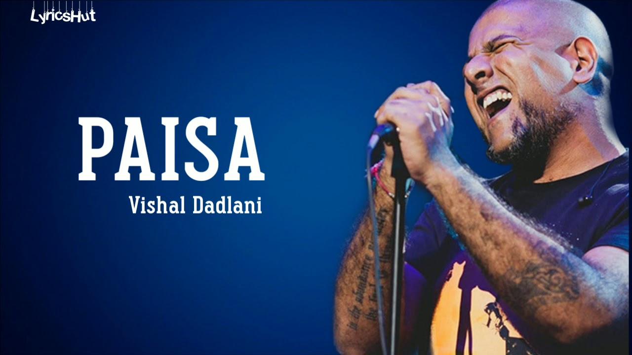 Download Paisa Lyrics - Vishal Dadlani   Super 30