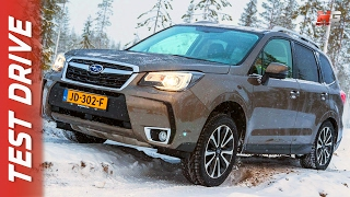 NEW SUBARU AWD 2017 - SNOW FIRST TEST DRIVE - FINLAND