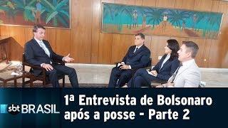 Jair Bolsonaro concede ao SBT a primeira entrevista após posse - Parte 2 | SBT Brasil (03/01/18)