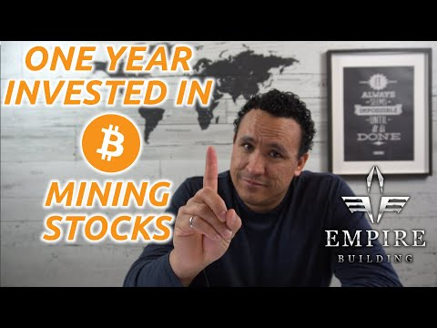 One year invested in bitcoin mining companies