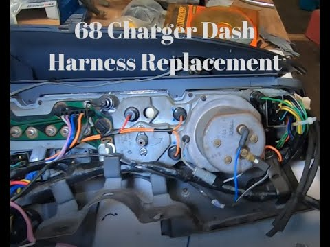 1968 roadrunner wiring diagram also fuel gauge 68 dodge charger dash harness replacement youtube  dodge charger dash harness replacement