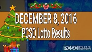 PCSO Lotto Results December 8, 2016 (6/49, 6/42, 6D, Swertres & EZ2)