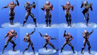 Fortnite OMEGA LEVEL 80 ARMOR SET Performs All Dances - All SEASON 1-4 Dance Emotes