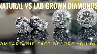 Natural vs lab grown diamond earrings . All you want to know about it