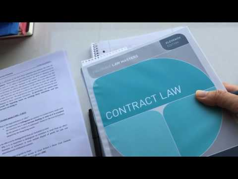 How to Study Contract Law (video)