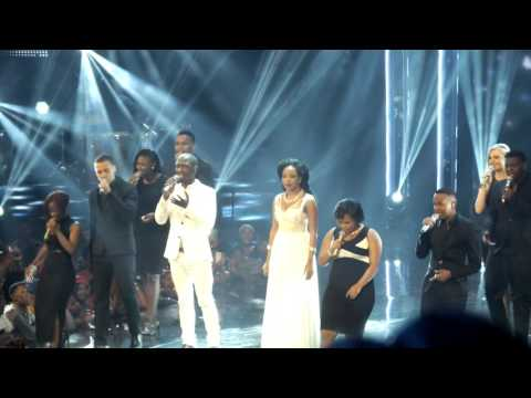 Karabo, Mmatema, and the other top ten contestants sing Beyonce's song ''I was here''