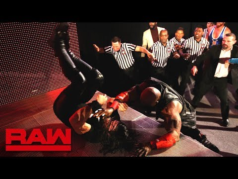 Seth Rollins and Bobby Lashley brawl as Raw comes on the air: Raw, Jan. 7, 2019