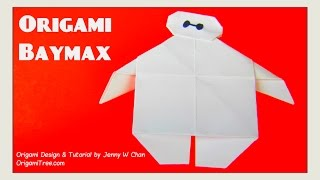 Origami BAYMAX from Disney Big Hero 6- Paper Crafts for Kids Easy